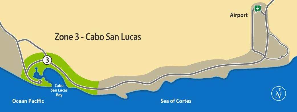 Zone 3 - Transportation to Cabo San Lucas area